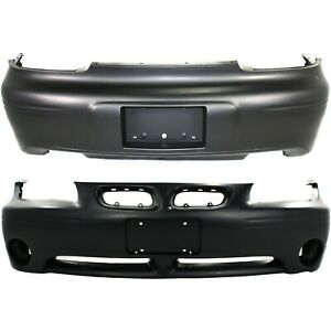 New Bumper Covers Facials Set Of 2 Front Rear Gm1000526 Gm1100532 Pair