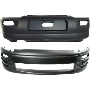 New Set Of 2 Bumper Covers Facials Front Rear Mi1000268 Mi1100256 Pair