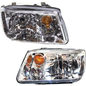 Headlight Set For 2002 2003 2004 2005 Volkswagen Jetta Left And Right 2pc