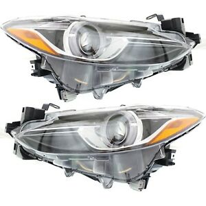 Headlight For 2014 2018 Mazda 3 Driver And Passenger Side
