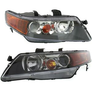 Headlight Set For 2004 2005 Acura Tsx Left And Right Hid 2pc