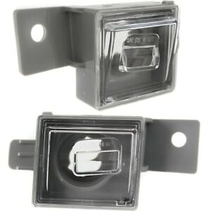 New License Plate Lights Lamps Set Of 2 Rear Driver Passenger Side Chevy Pair