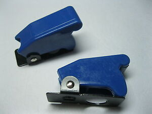 6 Pcs Safety Flip Cover For Toggle Switch Opaque Blue New