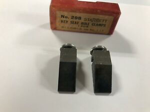 Starrett 298 Vintage Key Seat Rule Clamps 1 pair Nos Original Packaging