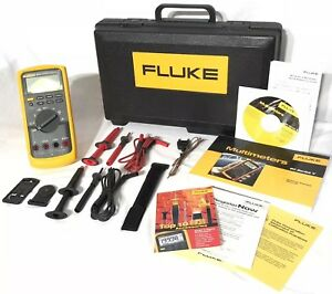 Fluke 83 5 Industrial Digital Multimeter 80 Series V 6000 Count True Rms W Case