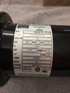 Bodine Reversible Gear Motor 12 Volts Dc 60 1 Ratio Speed Reducer 1 2 Shaft