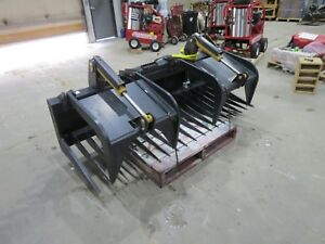 80 Inch Skid Steer Silage Rock Grapple Heavy Duty New Case Bobcat Cat Kubota Asv