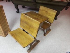 1940 School Chairs And Desk