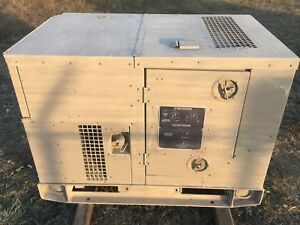 5 Kw Tactical Military Diesel Generator Mep 802a 60 Hz Low Hours 1 Or 3 Phase