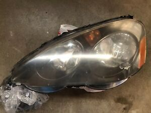 02 03 04 Acura Rsx Driver Side Headlight Has Damage For Parts Only Free Shipping