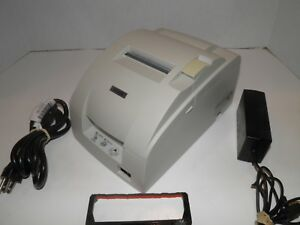 Epson Tm u220b M188b Kitchen Bar Pos Receipt Printer Parallel W Ac Adapter