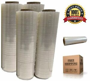 4x Plastic Shrink Stretch Clear Wrap Packing Film Pallet Rolls 18 X 1500