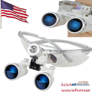 Dentist Dental Surgical Medical Binocular Loupes 3 5x 420mm Optical Glass Loupe