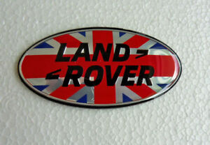 New For Land Rover 87mm Union Jack Flag Oval Grille Tailgate Emblem Free Ship