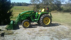 John Deere 4120 4x4 Tractor W Bucket forks blade And Box Blade Low Hours