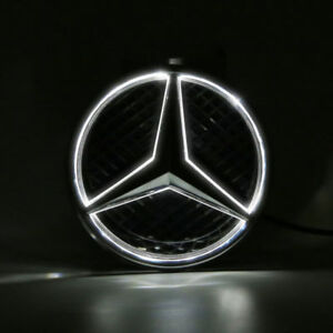 Illuminated Led Light Snap In Front Grille Star Emblem Badge Mercedes Benz W204