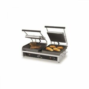 Star Gx20ig Commercial Dual double Grooved Platen Panini Press Sandwich Grill