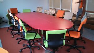 15 Steelcase Protege Office Chairs And Executive Conference Table