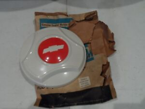 Nos 64 65 66 Chevy Van Hot Rod Dog Dish Hub Cap White Red Bowtie 3875629 Sk