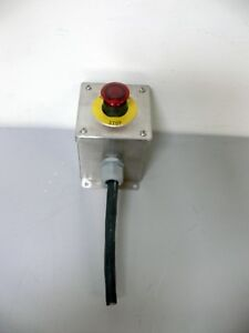 Emergency Stop Push Button In Stainless Steel Enclosure