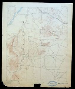 San Pedro New Mexico Rare Antique Usgs Reconnaissance Topo Map 1892 Albuquerque