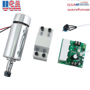 Max 65v Spindle Motor 400w Er11 mach3 Pwm Speed Controller mount Engraving Kit