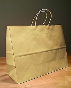 16x6x12 Kraft Brown Paper Retail Vogue Gift Rope Handle Tote Shopping Bags