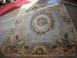 Close Out Sale 6x9 Vintage Aubusson Chinese Art Deco Rug