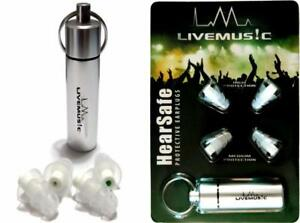 Livemus c Hearsafe Ear Plugs With Silicone Triple Flange And