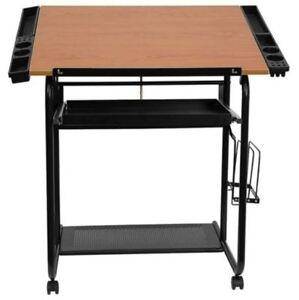 Small Drafting Table Portable Drawing Desk Adjustable Craft Hobby Storage Wheels