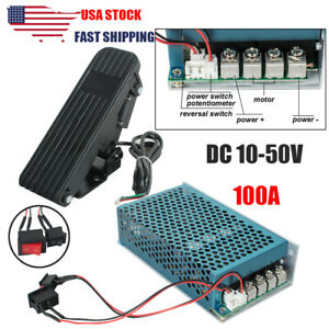 usa 10 50v 100a Reversible Pwm Dc Motor Speed Controller With Pedal Accelerator