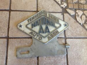 Vintage License Plate Topper Tennessee National Aa Auto Assn Early Truck Auto