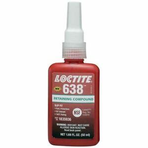 Loctite 50 Ml 638 Slip Fit High Strength Retaining Compound