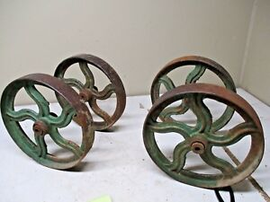 Set Of 4 Fancy Case Eagle Ci 12 Press Wheels For Engine Caert Etc
