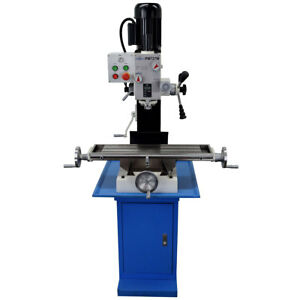 Pm 727 m Vertical Bench Top Milling Machine W stand Geared Head Free Shipping