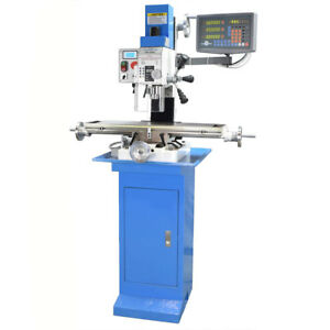 Pm 25mv Bench Top Milling Machine W 3 axis Dro Stand Variable Speed Ships Free