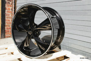 2 17x8 Foose Legend F104 Black milled Wheel Chevy Buick Olds Gm Pontiac 5 Lug