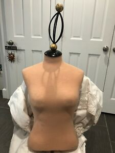 Vintage Cloth Covered Mannequin Torso Woman s Store Display For Sale