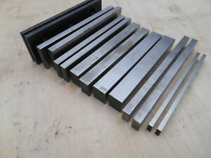 Machinist Parallels 7 Pairs Hardened And Ground