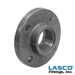 4 Schedule 80 Gray Pvc Threaded 150 Lb Companion Flange