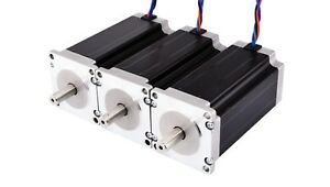 Stepper Motor 3pcs Nema 23 High Torque 3 0nm 425oz in 4 2a Diy Cnc Kit 4 lead