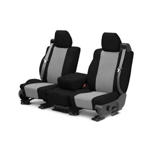 For Mg Mgb 73 80 Caltrend Tweed 1st Row Black Light Gray Custom Seat Covers
