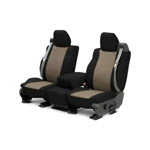 For Mg Mgb 73 80 Caltrend Duraplus 1st Row Black Beige Custom Seat Covers