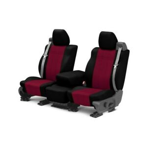 For Mg Mgb 73 80 Caltrend Neoprene 1st Row Black Red Custom Seat Covers