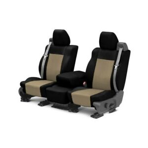 For Mg Mgb 73 80 Caltrend Carbon Fiber 1st Row Black Beige Custom Seat Covers