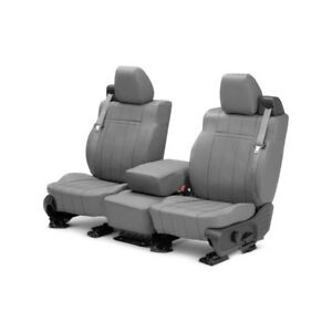 For Mazda 3 10 13 Caltrend Leather 1st Row Light Gray Custom Seat Covers