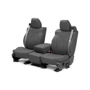 For Volkswagen Beetle 04 10 Caltrend Leather 1st Row Charcoal Custom Seat Covers