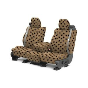 For Toyota Pickup 84 88 Caltrend Pet Print 1st Row Beige Custom Seat Covers