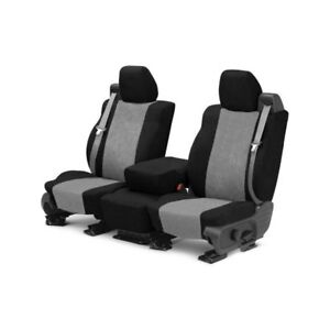 For Toyota Pickup 84 88 Supersuede 1st Row Black Light Gray Custom Seat Covers