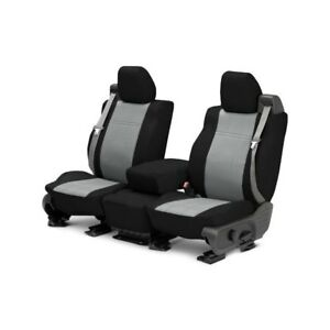 For Toyota Previa 91 93 Duraplus 1st Row Black Light Gray Custom Seat Covers